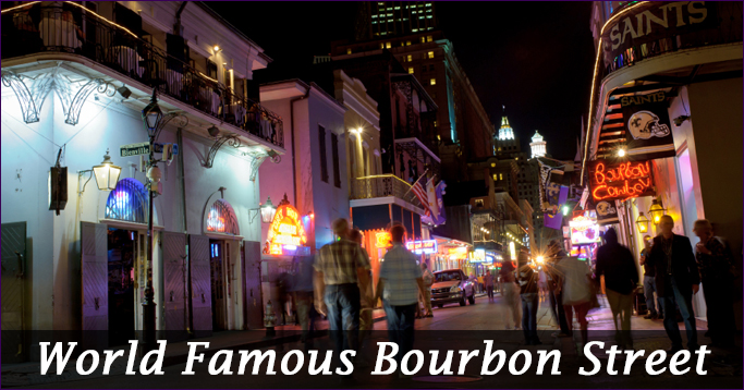 world famous bourbon street
